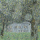 Farmhouse in Upper Austria 1911 - Gustav Klimt reproduction oil painting
