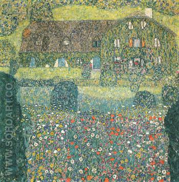 Villa on the Attersee 1914 - Gustav Klimt reproduction oil painting