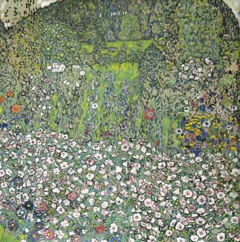 Garden Landscape with Hilltop 1916 - Gustav Klimt reproduction oil painting