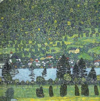 Forest Slope in Unterach on the Attersee 1916 - Gustav Klimt reproduction oil painting