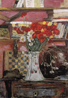 Vase of Flowers and Checkers 1912 - Pierre Bonnard