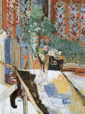 Interior with Flowers 1919 - Pierre Bonnard reproduction oil painting