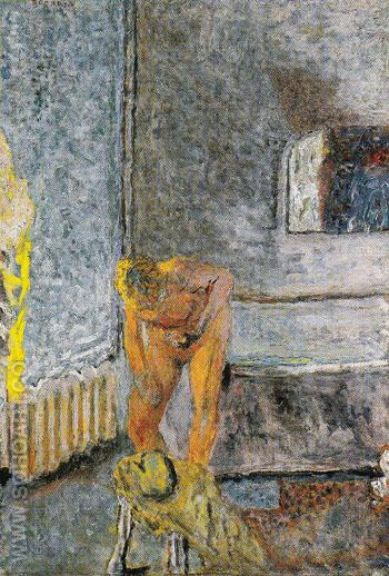 Nude in an Interior c1935 - Pierre Bonnard reproduction oil painting