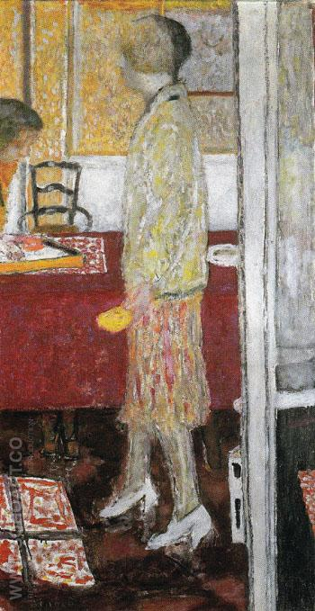 Marthe in the Dining Room 1933 - Pierre Bonnard reproduction oil painting