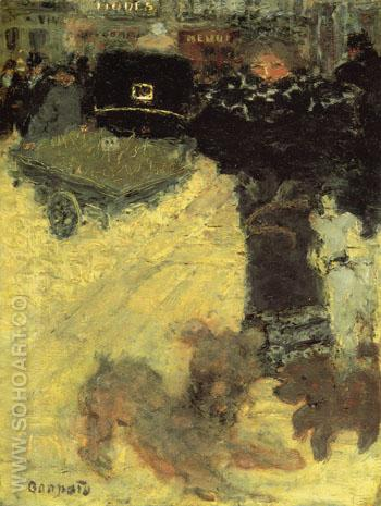 Street Scene Place Clichy c1895 - Pierre Bonnard reproduction oil painting