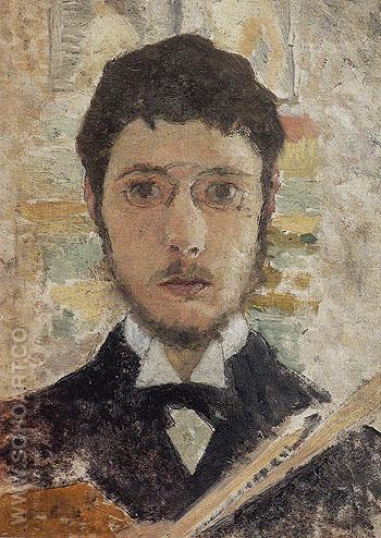 Self Portrait 1889 - Pierre Bonnard reproduction oil painting