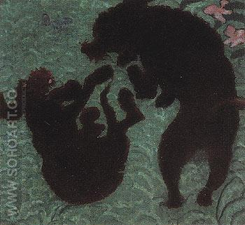 Two Poodles 1891 - Pierre Bonnard reproduction oil painting