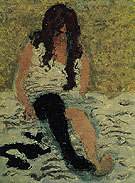 Woman Pulling on Her Stockings 1893 - Pierre Bonnard reproduction oil painting