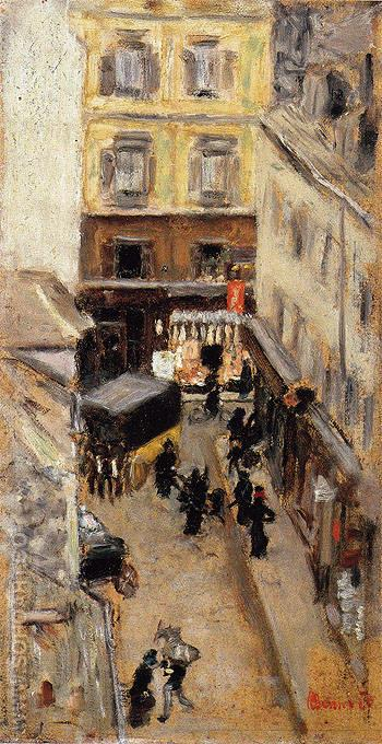 Narrow Street in Paris c1897 - Pierre Bonnard reproduction oil painting