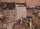 Montmartre in the Rain c1897 - Pierre Bonnard reproduction oil painting
