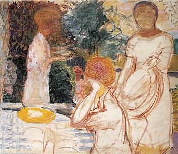 Young Women in the Garden 1918 - Pierre Bonnard reproduction oil painting