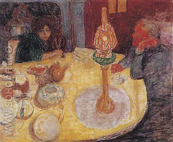 Evening by the Lamp 1921 - Pierre Bonnard reproduction oil painting