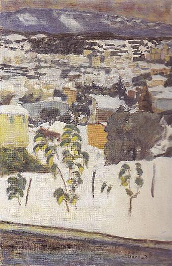 Le Cannet under the Snow 1927 - Pierre Bonnard reproduction oil painting