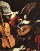 St Cecilia with an Angel - Carlo Saraceni reproduction oil painting
