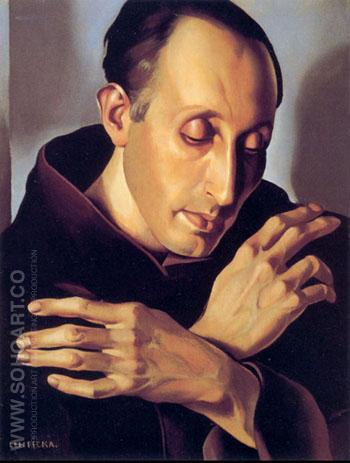 Saint Anthony c1936 - Tamara de Lempicka reproduction oil painting