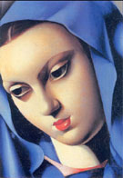 Blue Virgin 1934 - Tamara de Lempicka reproduction oil painting