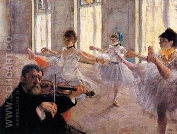 The Rehearsal c 1879 - Edgar Degas reproduction oil painting