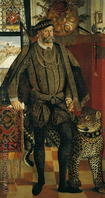 Portrait of Ladislaus von Fraunberg, Count of Haag 1557 - Hans Mielich reproduction oil painting