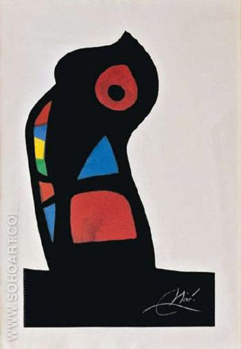 Untitled 1963 A - Joan Miro reproduction oil painting