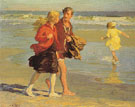 On Brighton Beach - Edward Henry Potthast reproduction oil painting