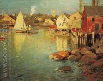 Ferry Landing - Edward Henry Potthast reproduction oil painting