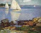 White Sails - Edward Henry Potthast reproduction oil painting