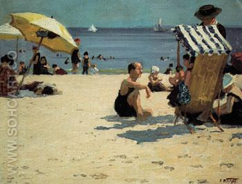 A July Day - Edward Henry Potthast reproduction oil painting