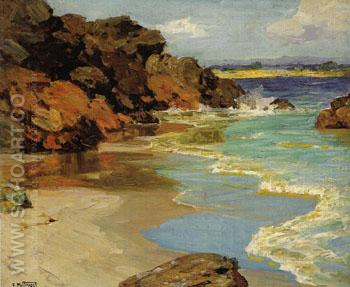 The Little Beach - Edward Henry Potthast reproduction oil painting
