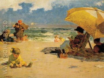 At the Seaside - Edward Henry Potthast reproduction oil painting