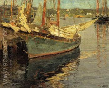 Gloucester Harbor - Edward Henry Potthast reproduction oil painting