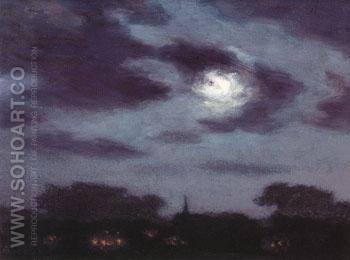 Moonlight - Edward Henry Potthast reproduction oil painting