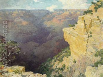 Bright Angel Canyon Grand Canyon - Edward Henry Potthast reproduction oil painting