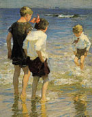 Children at Shore - Edward Henry Potthast reproduction oil painting