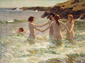 Water Nymphs - Edward Henry Potthast reproduction oil painting