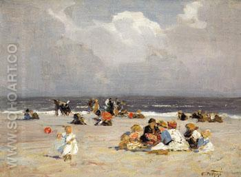 Blue Skies - Edward Henry Potthast reproduction oil painting