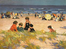 Beach Scene 1905 - Edward Henry Potthast reproduction oil painting