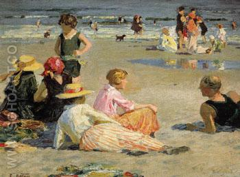 Manhsttan Beach - Edward Henry Potthast reproduction oil painting