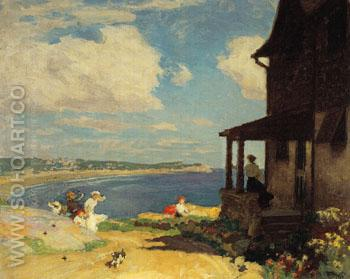 Summer Breezes - Edward Henry Potthast reproduction oil painting