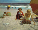 Rockaway Beach - Edward Henry Potthast reproduction oil painting