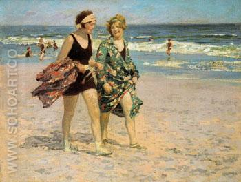 Blonde and Brunette - Edward Henry Potthast reproduction oil painting