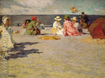 Balloon Vendor - Edward Henry Potthast reproduction oil painting
