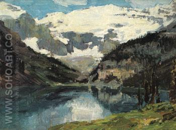 Lake Louise - Edward Henry Potthast reproduction oil painting