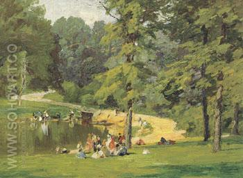 In the Park - Edward Henry Potthast reproduction oil painting