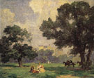 In Central Park - Edward Henry Potthast reproduction oil painting