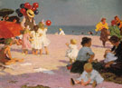 On the Baech - Edward Henry Potthast reproduction oil painting