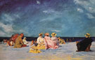 Picnic on the Beach - Edward Henry Potthast reproduction oil painting