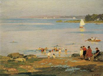 Beach Scene - Edward Henry Potthast reproduction oil painting