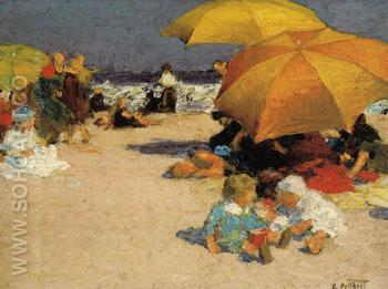 On the Sands - Edward Henry Potthast reproduction oil painting
