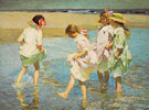 Children on the Beach - Edward Henry Potthast reproduction oil painting