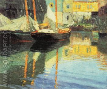 Sailboats - Edward Henry Potthast reproduction oil painting